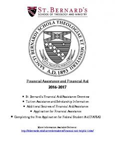 Financial Assistance and Financial Aid