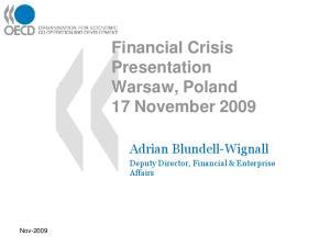 Financial Crisis Presentation Warsaw, Poland 17 November 2009