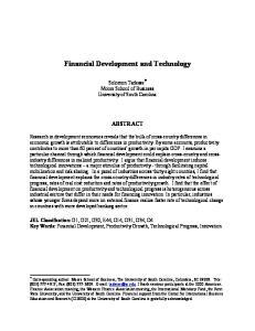 Financial Development and Technology