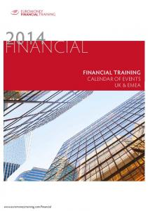 FINANCIAL FINANCIAL TRAINING CALENDAR OF EVENTS UK & EMEA