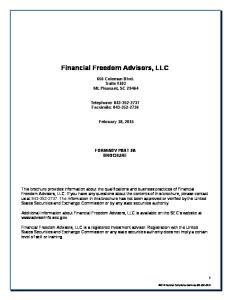 Financial Freedom Advisors, LLC