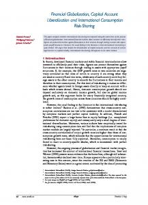 Financial Globalization, Capital Account Liberalization and International Consumption Risk-Sharing