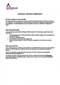 FINANCIAL HARDSHIP ASSISTANCE