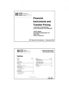 Financial Instruments and Transfer Pricing