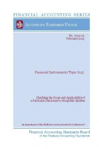 Financial Instruments (Topic 825)
