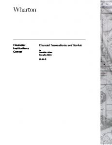 Financial Intermediaries and Markets