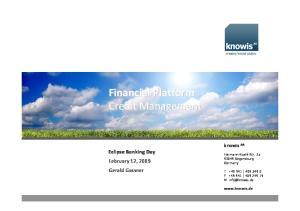 Financial Platform Credit Management
