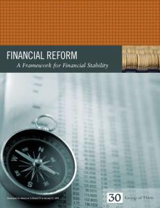 Financial Reform A Framework for Financial Stability