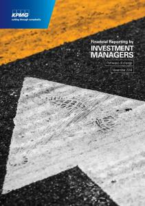 Financial Reporting by INVESTMENT MANAGERS