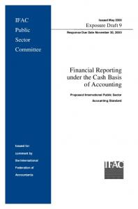 Financial Reporting under the Cash Basis of Accounting