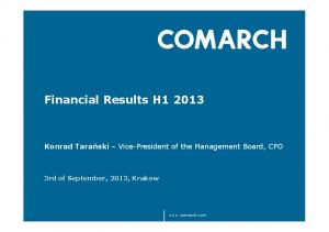 Financial Results H1 2013