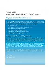 Financial Services and Credit Guide