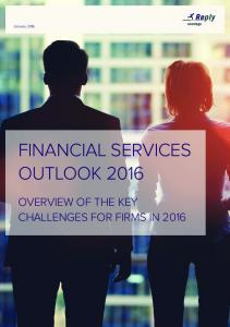 FINANCIAL SERVICES OUTLOOK 2016