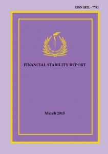 Financial Stability Report - March financial stability report