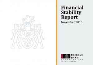 Financial Stability Report. November 2016
