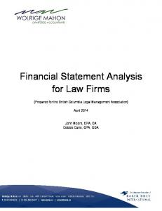 Financial Statement Analysis for Law Firms