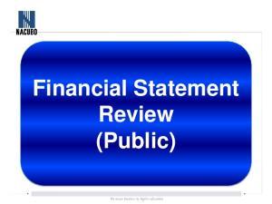 Financial Statement. Review (Public)