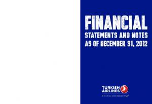 Financial. Statements and Notes as of December 31, 2012