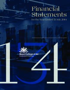 Financial Statements. for the Year Ended 31 July 2014
