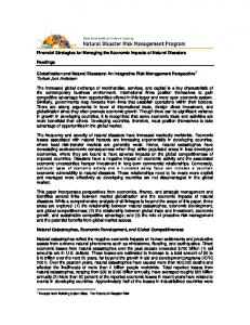 Financial Strategies for Managing the Economic Impacts of Natural Disasters