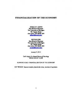 FINANCIALIZATION OF THE ECONOMY