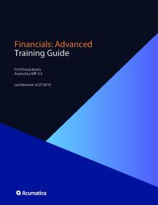 Financials: Advanced Training Guide
