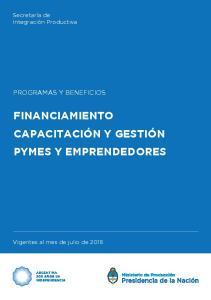 FINANCIAMIENTO CAPACITACIÓN Y GESTIÓN PYMES Y EMPRENDEDORES
