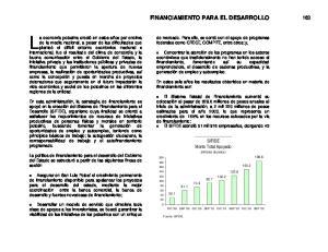 FINANCIAMIENTO PARA EL DESARROLLO 163