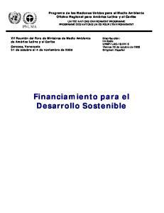 Financiamiento para el Desarrollo Sostenible