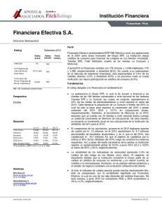 Financiera Efectiva S.A