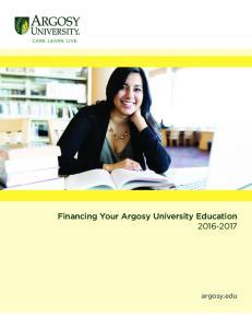 Financing Your Argosy University Education argosy.edu