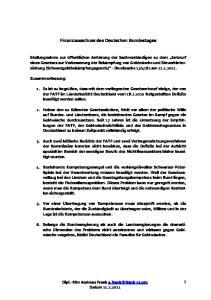 Finanzausschuss des Deutschen Bundestages