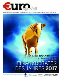 FINANZBERATER DES JAHRES Die Top-100-Adressen in Deutschland. Verlags-Sonderveröffentlichung in Kooperation mit