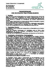 FINANZORDNUNG DES DEUTSCHEN TISCHTENNIS-BUNDES