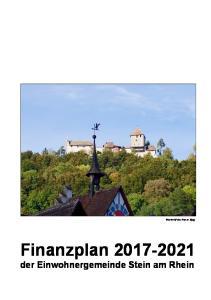 Finanzplan der Einwohnergemeinde Stein am Rhein