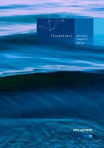 fincantieri annual report 2015 annual report 2015