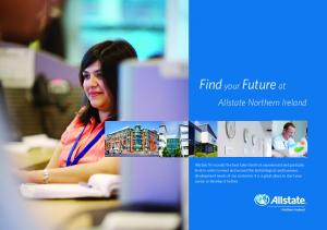 Find your Future at. Allstate Northern Ireland