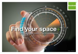 Find your space+ Tailor-made warehouse solutions to help expand your business