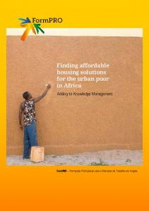 Finding affordable housing solutions for the urban poor in Africa