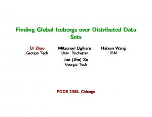Finding Global Icebergs over Distributed Data Sets