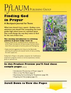 Finding God in Prayer