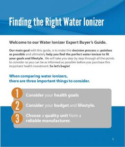 Finding the Right Water Ionizer