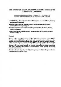 FINDINGS FROM INTERNATIONAL LAW FIRMS