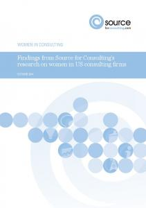 Findings from Source for Consulting s research on women in US consulting firms