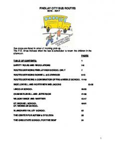 FINDLAY CITY BUS ROUTES