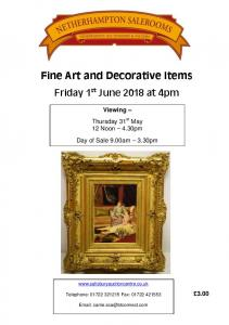 Fine Art and Decorative Items
