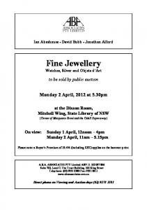 Fine Jewellery Watches, Silver and Objets d Art