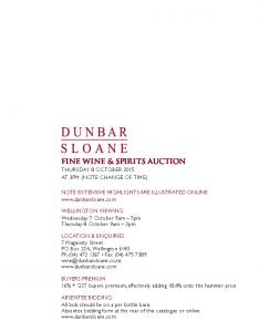 FINE WINE & SPIRITS AUCTION