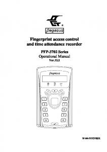 Fingerprint access control and time attendance recorder