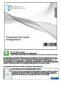 Fingerstyle Jazz Guitar Arrangements